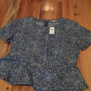NWT Patterned Gap Blouse with back Zip